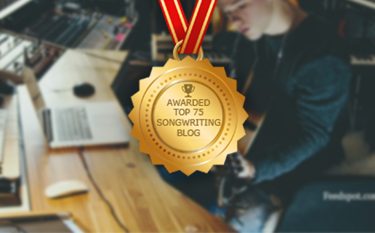 Award from Feedspot - Top 75 Songwriting Blogs
