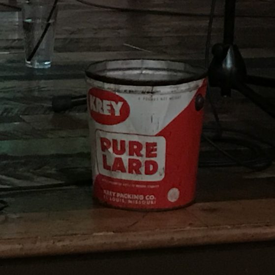 A bucket of lard.
