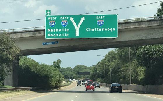 Nashville roadsign
