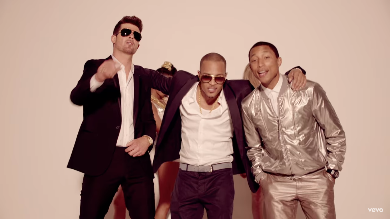 The three lads from the Blurred Lines video